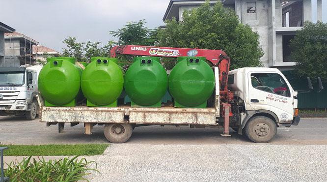 Bể phốt composite dễ dàng vận chuyển và lắp đặt