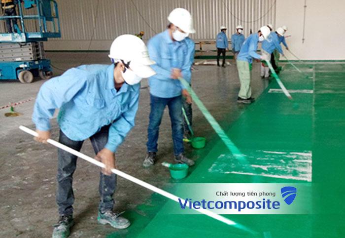 bọc phủ composite tại công trường