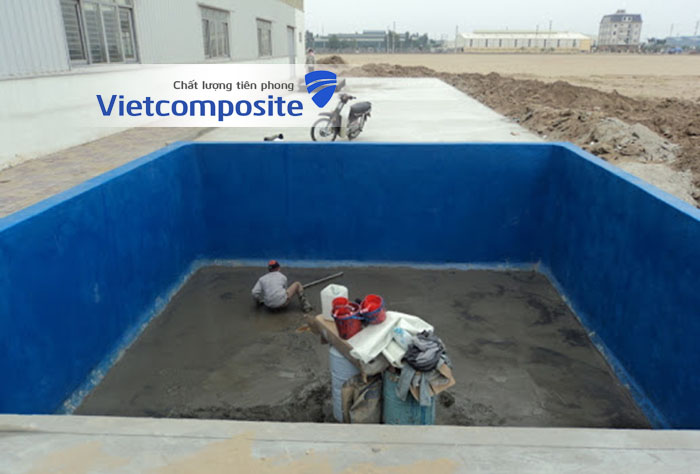 Bọc phủ composite frp bể bơi